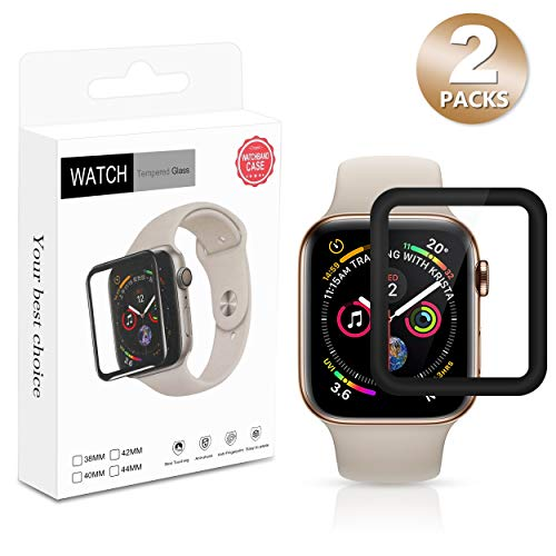 avedio links 3D Curved Tempered Screen Protector with Full Coverage 9H Hardness HD Clear Anti-Bubble for Apple Watch (Series 3, 42 mm)