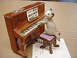 Hagen Renaker - Cat Playing Piano for sale  Delivered anywhere in USA