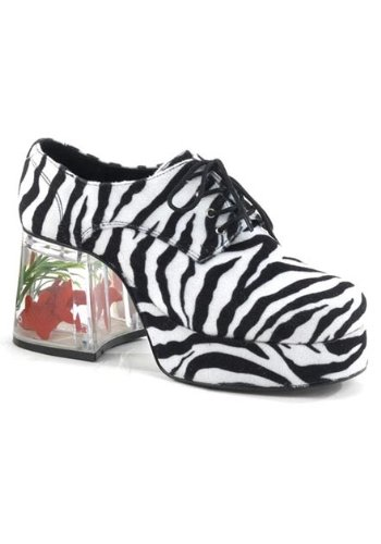 Pimp Costume Womens Zebra (Funtasma by Pleaser Men's Halloween Pimp-02,Zebra,M (US Men's 10-11)