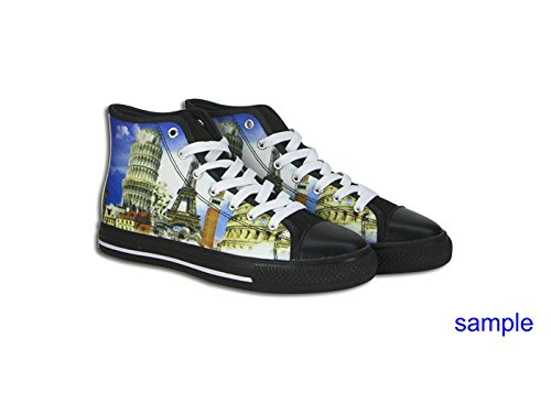 Scarpe Alte Da Uomo In Tela Captain America Capitano Shoes12