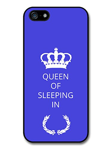New Funny Queen of the Sleeping in Gift Idea on Lazy Blue Design coque pour iPhone 5 5S