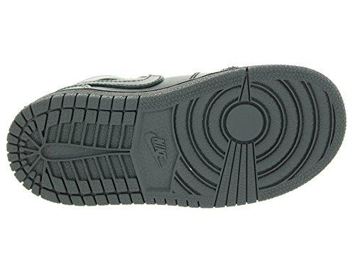 Nike Boy s Air Jordan 1(Mid) Zapatillas de Baloncesto Negro/Negro/Gris oscuro