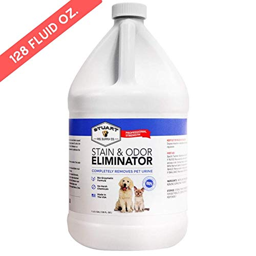 Stuart Pet Supply Professional Strength Pet Stain and Odor Eliminator - Urine Odor Remover - Pet Urine Enzyme Cleaner - Enzymatic Cleaner for Dog Urine and Cat Urine from Stuart Pet Supply Co.