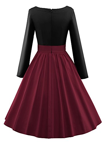 Luouse - Vestido - para mujer 2Black&Winered