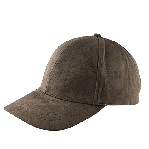 vancol-soft-faux-leather-suede-hat-baseball-cap-unstructured-army-green