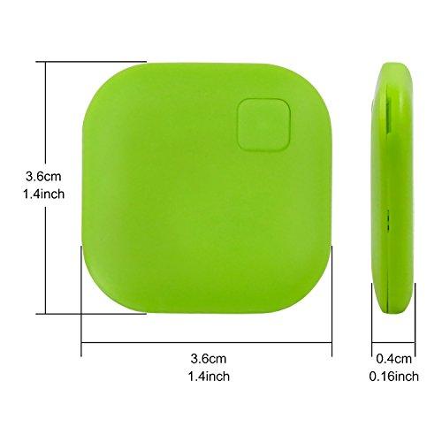 Eccbox Key Finder,Smart Bluetooth Tracker Anti Lost Locator Alarm Wireless Anti-Theft Sensor Remote Selfie Shutter Seeker Finder for Kids, Pet,Wallet, Keys, Car,Smart Phones (Multi-shape-5pcs) by Eccbox (Image #5)