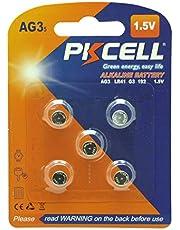 5 Pcs LR41 392 192 384 AG3 1.5V Alkaline Batteries for Watches