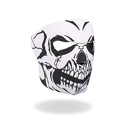 - Hot Leathers Skull Neoprene Face Mask (Black/White)