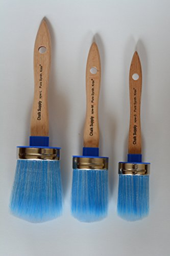 Price comparison product image Chalk Supply Krex Bristle Paint and Wax Brushes- All 3 Sizes (Combo Pack)