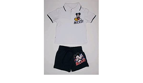 Completo Verano Corto Mickey Polo + Short Marvel 3/8 años - oe1496 ...