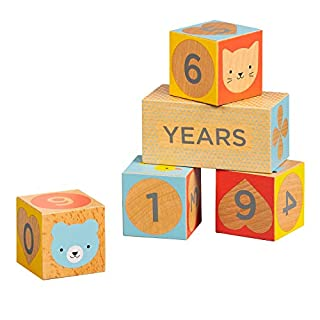 Petit Collage Baby Milestone Blocks Photo Prop for Months, Weeks, Years (PTC468)