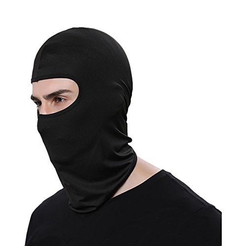 Balaclava Ski Face Mask For Football Helmet Outdoor Motorcycle Bike Cycling Sports (Black)
