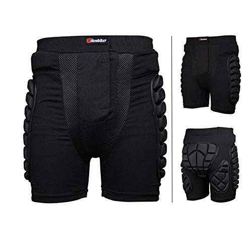 Price comparison product image Shenghua1979-Car Motorcycle Protective Jacket Men and Women Ski Pants Riding Safety Sports Protection Anti-Fall Adult Children Universal (Color : Black,  Size : XXL)