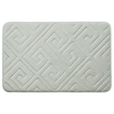 """Bounce Comfort Caicos Extra Thick Premium Memory Foam Bath Mat with BounceComfort Technology, 20 x 32"""" Light Grey - Includes one Bounce Comfort plush memory foam bath mat Sizes include 17 x 24 inch or 20 x 32 inch Microfiber surface wicks away water and dries quickly - bathroom-linens, bathroom, bath-mats - 41D6fCxNuxL. SS400  -"""