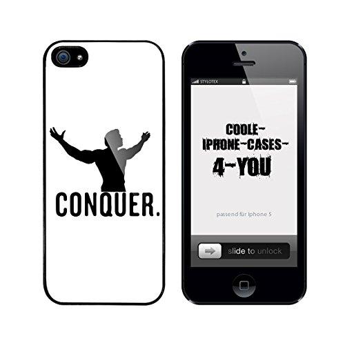 Iphone 5 / 5S Schutzhülle Conquer. V2 - schwarzer Rahmen