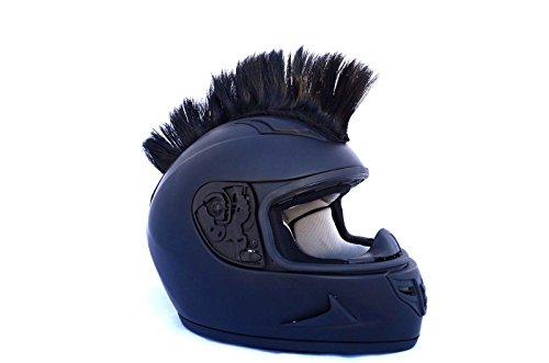 Jet Black Motorcycle Mohawk Ski Snowboard Helmet Mohawk w/ Sticky Adhesive