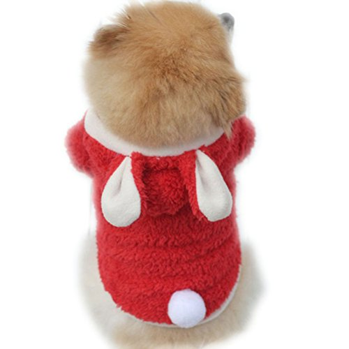 Uniquorn Bunny Turned Clothing Pet Teddy VIP Dog Clothes Rabbit Cute Pajamas Puppies Autumn And Winter (Zombie Cowgirl Costumes)