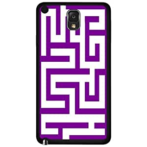 Purple Maze Hard Snap on Phone Case (Note 3 III) wangjiang maoyi