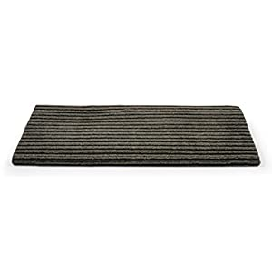 "Camco 42956 RV Step Rug ( Premium Wrap Around Double Ribbed , 100% Polyester (18"" x 23"") - Gray)"