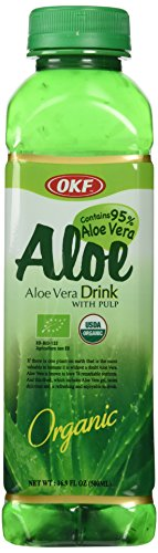 Trader Joe's Aloe Vera Drink with Pulp, 4 bottles, each 16.9 oz bottles, Organic (Drinks With Pulp Aloe Vera)