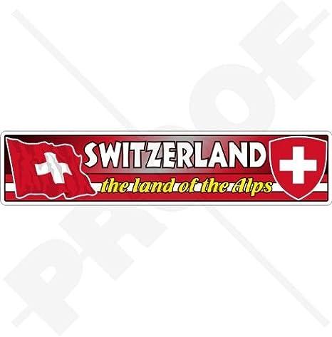 Coat of Arms Sticker of Switzerland Bumper Decal Helmet Car Truck Bike Swiss