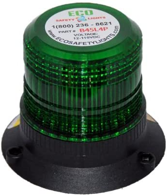 B2HP4PAC GREEN 85-265V AC 12W HIGH POWER LED FORKLIFT EMERGENCY WARNING LIGHT BEACON STROBE EFFECT 110V 120V 220V 240V
