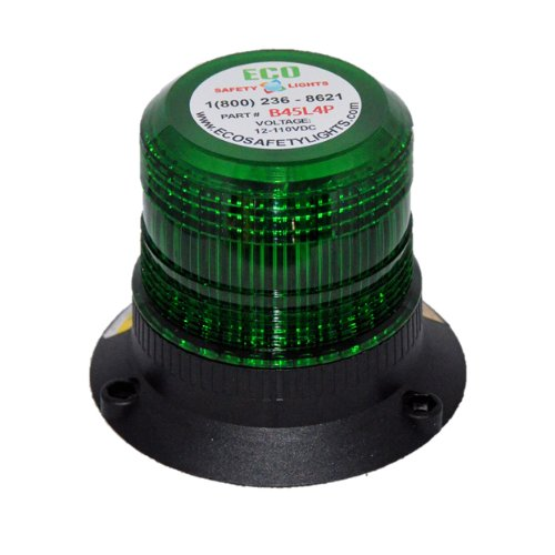 B45L4PAC 85-265V AC LED EMERGENCY WARNING SAFETY LIGHT MEDIUM BEACON STROBE EFFECT 110V 120V 220V 240V (GREEN)