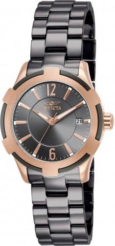 Invicta 15840 Ceramics Women's Quartz Stainless Steel Gunmetal Bracelet Watch