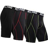 Neleus Men's 3 Pack Sport Compression Shorts