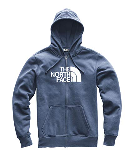 The North Face Men s Half Dome Full Zip Hoodie - Shady Blue Heather   TNF  White 43c1bee24c81