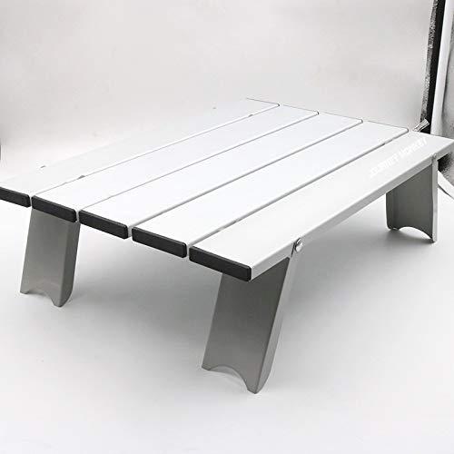 EmmmE Aleación Exterior de Aluminio Mesa pequeña Plegable, Mesa de ...