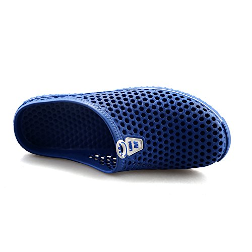 Blue EnllerviiD Dark Shoes Slide Cutout Bathroom Slippers Sandals Light Mens Surfing Beach Home Weight OqOrFg7
