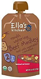 Ella\'s Kitchen 2 Meals - Mouth Watering Beef Medley - 4.5 oz - 6 Pack