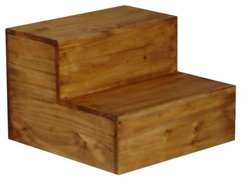 Honey Rustic, Western Bed Side Step Stool, Steps, Real Wood