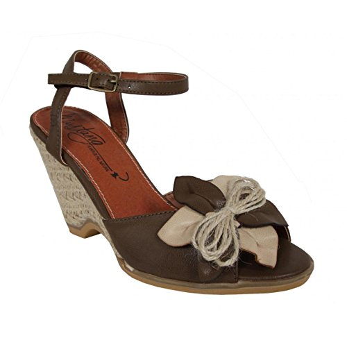 Taigo Cuña 53292 De Zapatos Chocolate Mtng ice Mujer 5Xq4nSwxp