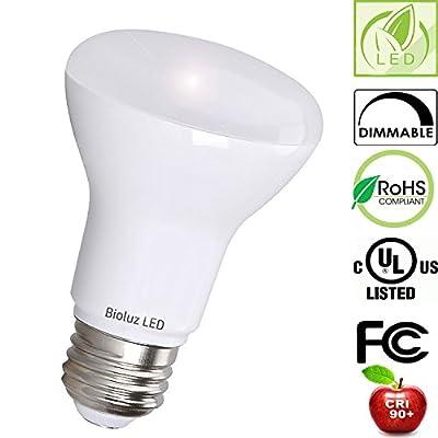 4 Pack Bioluz LED BR20 LED Bulb 90 CRI Dimmable UL-Listed CEC JA8 Title 20 24 Compliant 525 Lumen Outdoor/Indoor Flood Light