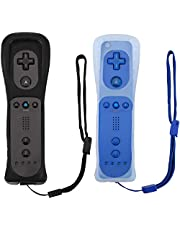 Remote Controller for Wii U Console (Black and Deep Blue,2 Packs)