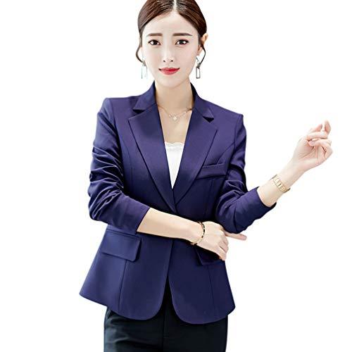 Work Coat Women Blazer Office Spring Autumn Office e giacche Lady scuro Suit Blazer scuro Slim Blu Kaiyei OSxAwA