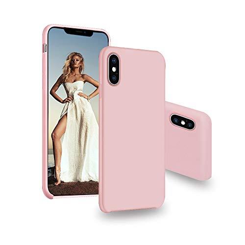 iphonex xsケース iphonex xs case アイフォンxs ケース iphonex xsカバー iphonex xsケース ピンク耐衝撃 保護ケース シリコン 超軽量 全面保護 (iphonex/xs, ピンク)