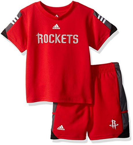 NBA Toddler Houston Rockets Possession Tee & Short Set-Red-4T