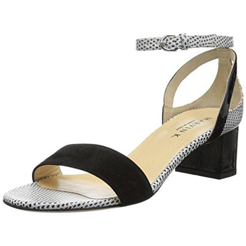 Marvin K Women's Netta Dress Sandal,Black Suede Combo,7.5 M US