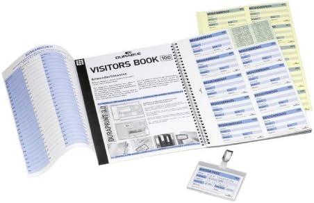 Durable 146461 Nachfüllsatz für Besucherbuch / Visitors Book 100 (deutsch, für 100 Namensschilder)