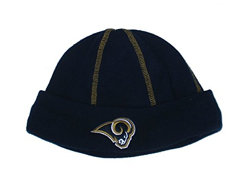 Los Angeles Rams Knit Beanie OSFA NFL Hat Cap - Navy Blue & Gold by Reebok