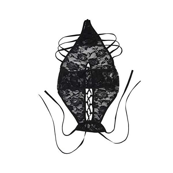 Wolfleague Nuisette Babydoll Ouverte Lingerie sous-VêTements Nuisette Ensemble Dentelle Dessous Tenue Lingerie Femme…