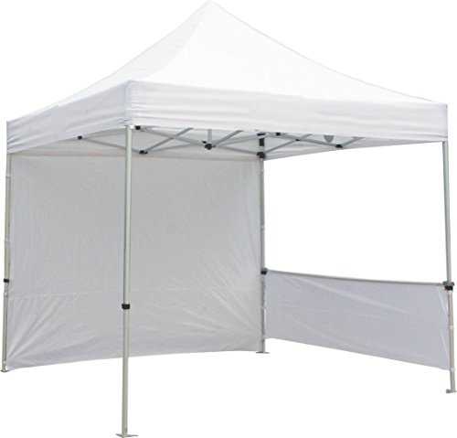 Exhibitor's Handbook TNT-3MX3M-FLL-WLL-WHT Zoom Popup Tent Full Wall Only, 10', White by Exhibitor's Handbook