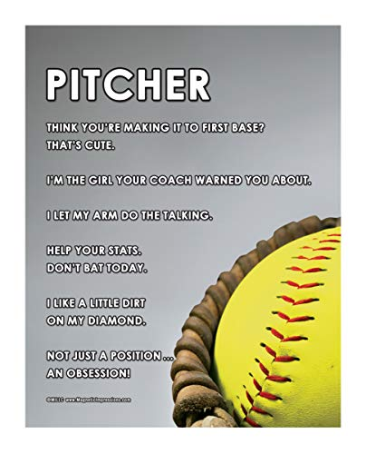Posters and Prints by Magnetic Impressions Softball Pitcher Glove 13.75