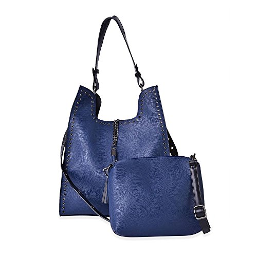 Adjustable Shoulder Blue Set Charm With Handbag Colour Tassel Multi Navy Strap 2 Of 7w8qxO7z