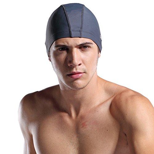 DESMIIT Mens Nylon Swimming Cap product image