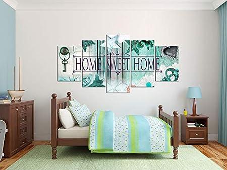 murando Quadro 100x50 cm 5 Pezzi Stampa su Tela in TNT XXL Immagini Moderni Murale Fotografia Grafica Decorazione da Parete Home Fiori 020115-71