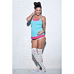 You! Lingerie Double YOU Blue/Pink Tank -